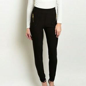 Stretch Pants With Zipper